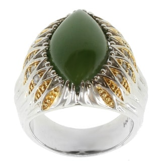 Michael Valitutti Two-tone Nephire Jade and White Sapphire Ring