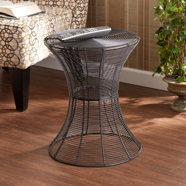 harper blvd kayden indoor outdoor silver metal accent table - Outdoor Accent Tables