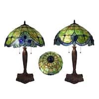 Warehouse of Tiffany Green Geometric Table Lamp