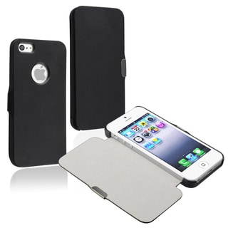 BasAcc Black Snap-on Leather Case for Apple iPhone 5