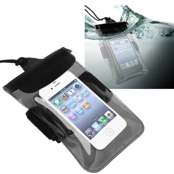 INSTEN Clear Black Waterproof Bag for Apple iPhone 5