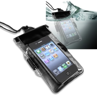 INSTEN Black Universal with Armband Waterproof Bag for Apple iPhone 4/ 4S/ 5/ 5S