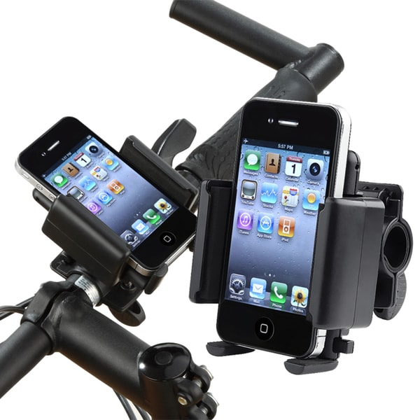 INSTEN Bicycle Cell Phone Holder for Apple iPhone 3G/ 3GS/ 4/ 4S/ 5/ 5S/ 6/ iPod