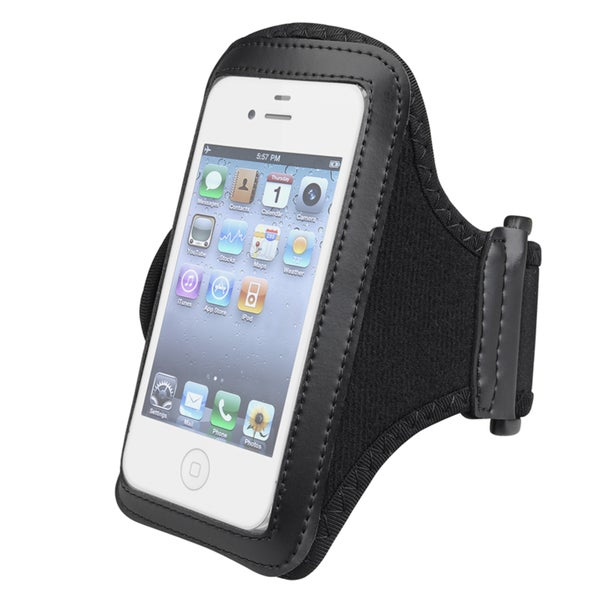 INSTEN Black Sport Armband for Apple iPhone 5