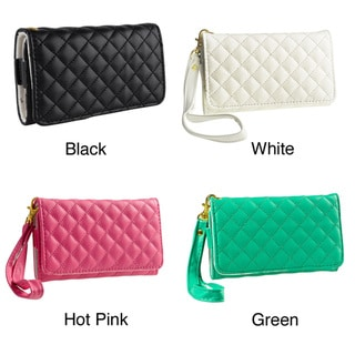 INSTEN Leather Wallet Phone Case for Apple iPhone 4/ 4S/ 5/ 5C/ 5S, Samsung Galaxy S4 Mini