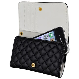 INSTEN Black Leather Wallet Phone Case Cover for Cell Phone