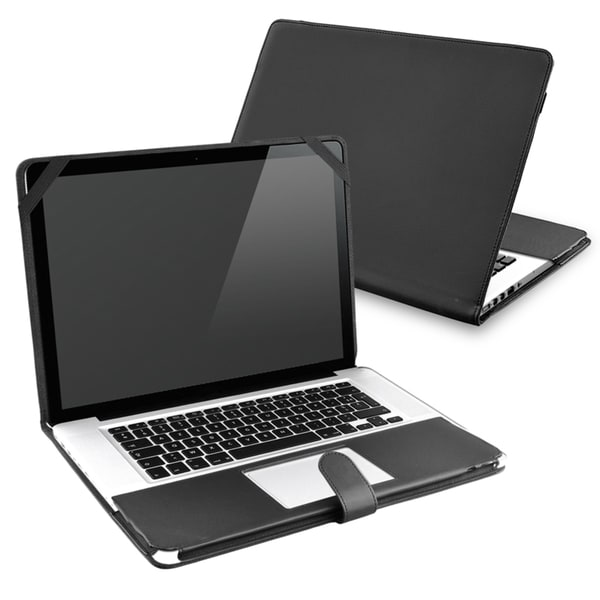BasAcc Black Leather Case for Apple MacBook Pro 15-inch