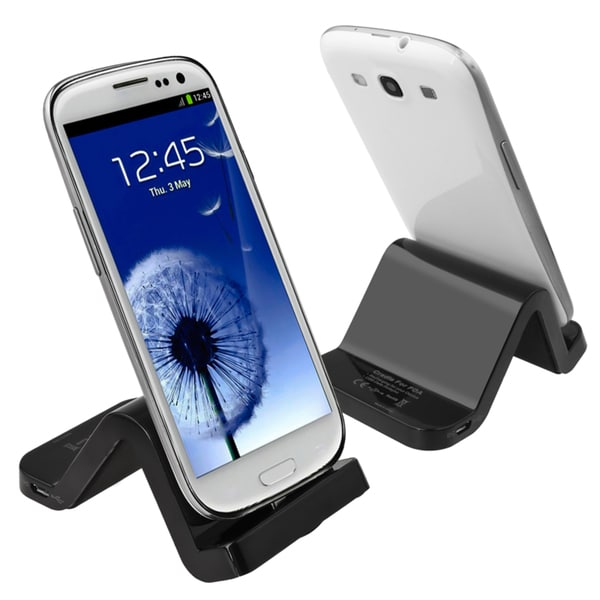 INSTEN Black S-shape Cradle for Samsung Galaxy S III/ S3 i9300/ S4 mini i9190