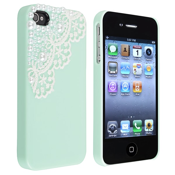 INSTEN Mint Green Snap-on Phone Case Cover for Apple iPhone 4/ 4S