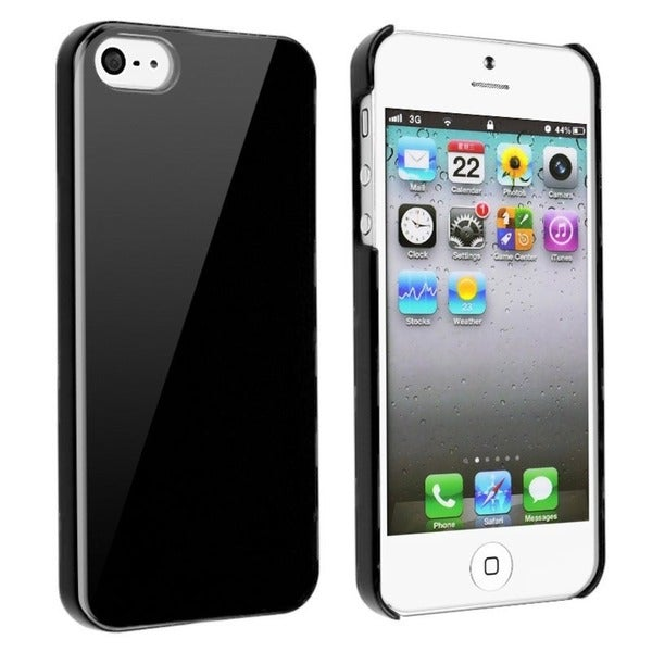 INSTEN Black Ice-cream Snap-on Phone Case Cover for Apple iPhone 5/ 5S