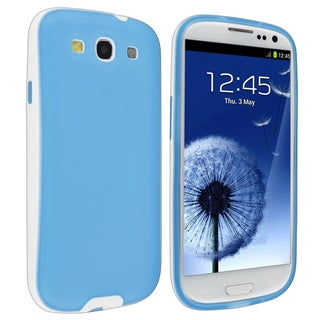 BasAcc Blue/ White TPU Rubber Skin Case for Samsung Galaxy S III / S3