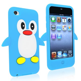 INSTEN Blue Soft Silicone Skin iPod Case Cover for Apple iPod Touch Generation 4