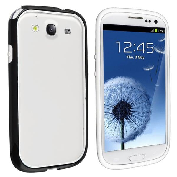 BasAcc White TPU Rubber Bumper for Samsung Galaxy S III / S3