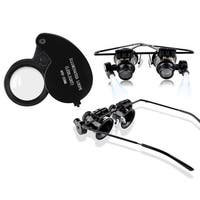 INSTEN 40X Magnifying Glass with LED Light Jewelry Loupe