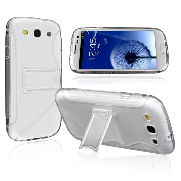BasAcc White TPU Rubber Skin Case for Samsung Galaxy S III / S3