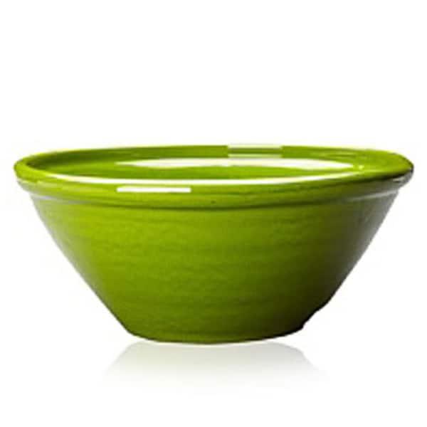 Terafeu Green Handmade Clay Serving Bowl