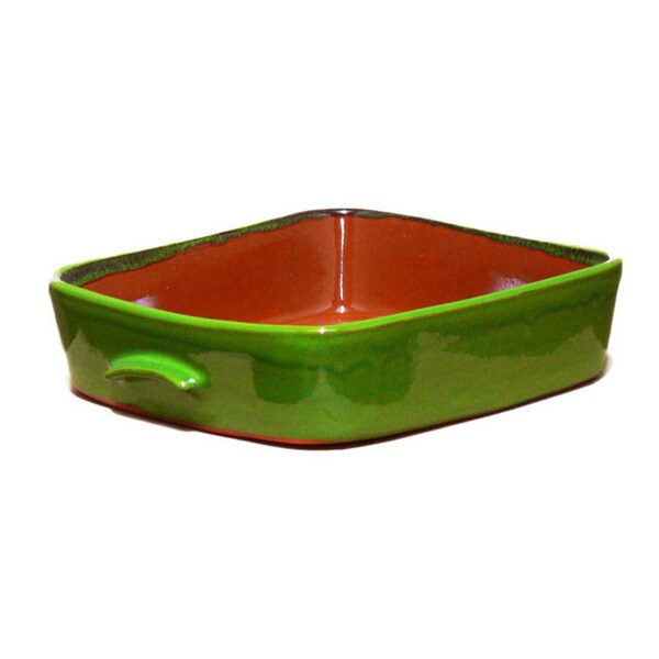 Terafeu Green Clay 4.5-quart Square Baker