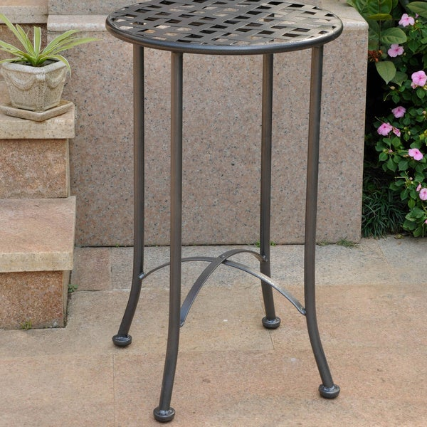 International Caravan Mandalay 16 Inch Patio Side Table