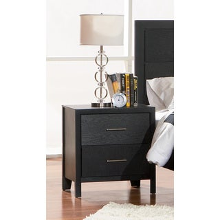 Coaster Company Karpos Black Two-drawer Modern Nightstand