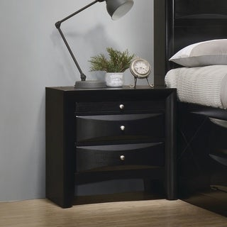 Coaster Company Anastasia Black Two-drawer Contemporary Nightstand