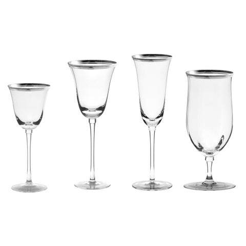 10 Strawberry Street Windsor Silver 16-piece Glassware Set