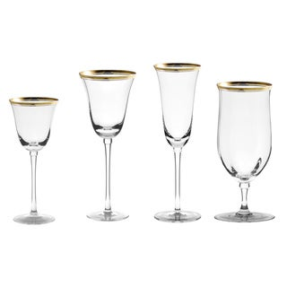 10 Strawberry Street Windsor Gold 16-piece Glassware Set