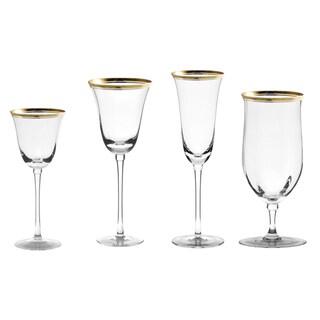 10 Strawberry Street Windsor Gold 16-piece Glassware Set
