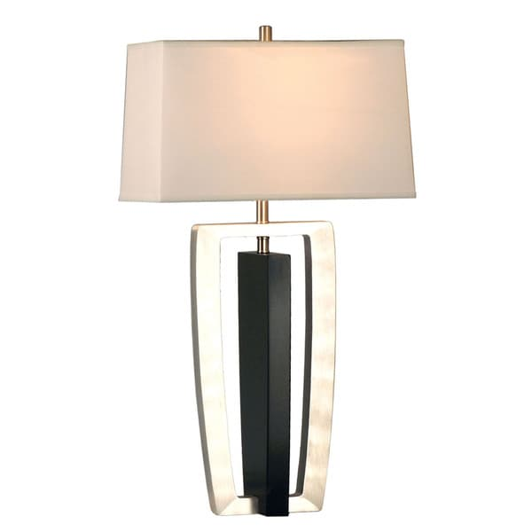 Intersect Linen Shade Table Lamp