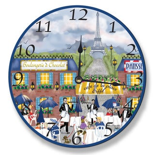 Paris Dining Scene Wall Clock
