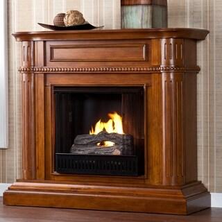 Jocelin Walnut Gel Fuel Fireplace