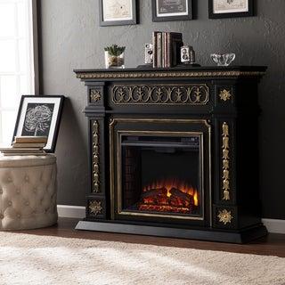 Gracewood Hollow Ridge Black Electric Fireplace