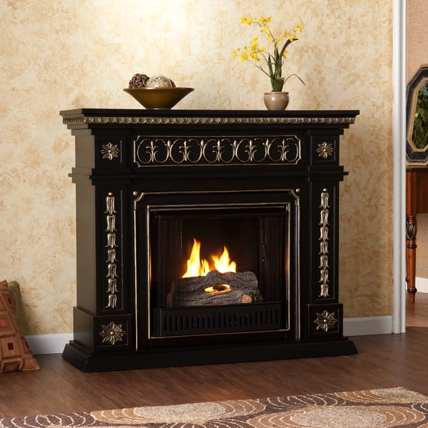 Shop Upton Home Alessia Black Gel Fuel Fireplace Overstock 7323049