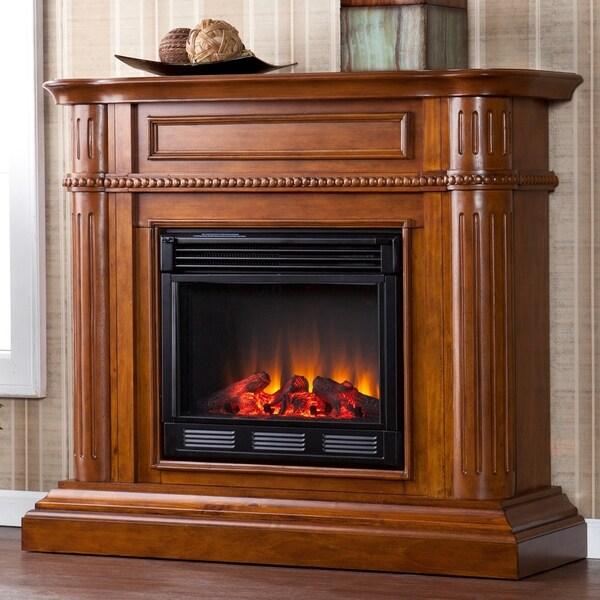 Jocelin Walnut Electric Fireplace