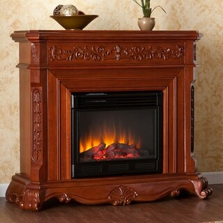 Burke Mahogany Electric Fireplace