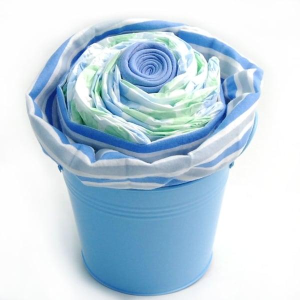 Nikki's Giant Cupcake Diaper Cake Gift Pail For Boys