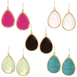 KC Signatures Gold-plated Tear Drop Earrings