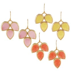 KC Signatures Gold-plated 3-tier Earrings
