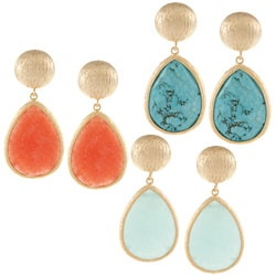 KC Signatures Gold-plated Large Disc Dangle Earrings