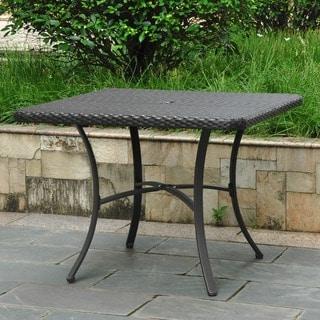 International Caravan Barcelona Resin Wicker/Aluminum 39 Inch Square Outdoor  Dining Table