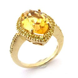 Sonia Bitton 14k Yellow Gold Citrine and Yellow Sapphire Ring