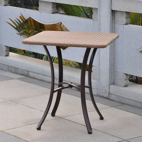 International Caravan Barcelona Resin Wicker/Aluminum Outdoor 28-inch Square Bistro Table