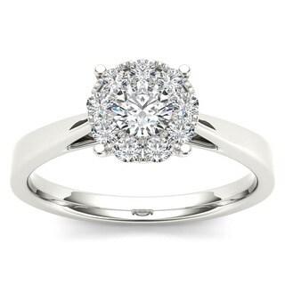 De Couer 10k Gold 1/2ct TDW Diamond Ring