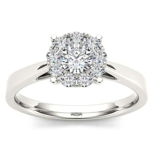 De Couer 10k Gold 1/2ct TDW Diamond Ring (H-I, I2)