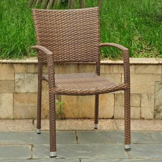 International Caravan Barcelona Resin Wicker/Aluminum Outdoor Dining Chairs (Set of 6)