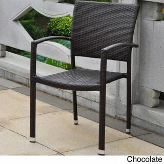 International Caravan Barcelona Resin Wicker/Aluminum Outdoor Dining Chairs (Set of 4)