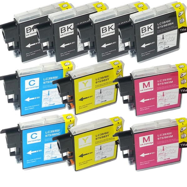 Brother LC-39 Compatible Black / Color Ink Cartridges (Pack of 10)