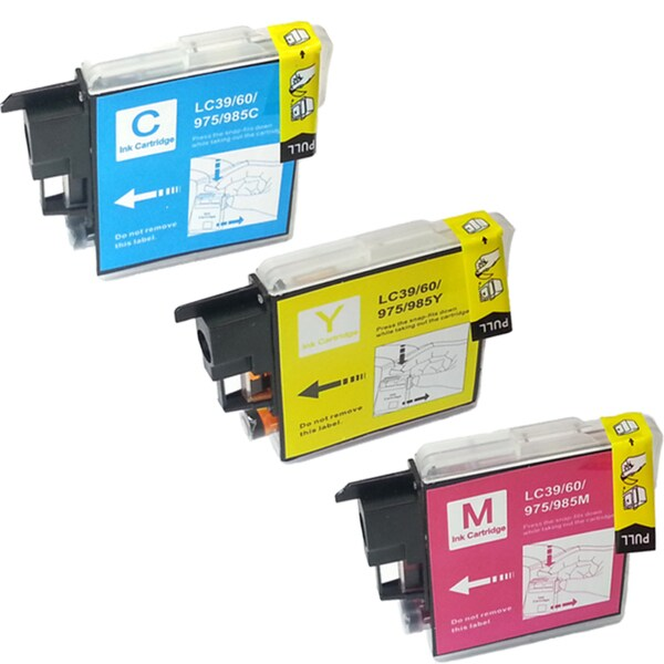 Brother LC-39 Compatible Black / Color Ink Cartridges (Pack of 3)