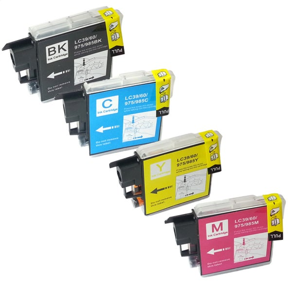 Brother LC-39 Compatible Black / Color Ink Cartridges (Pack of 4)