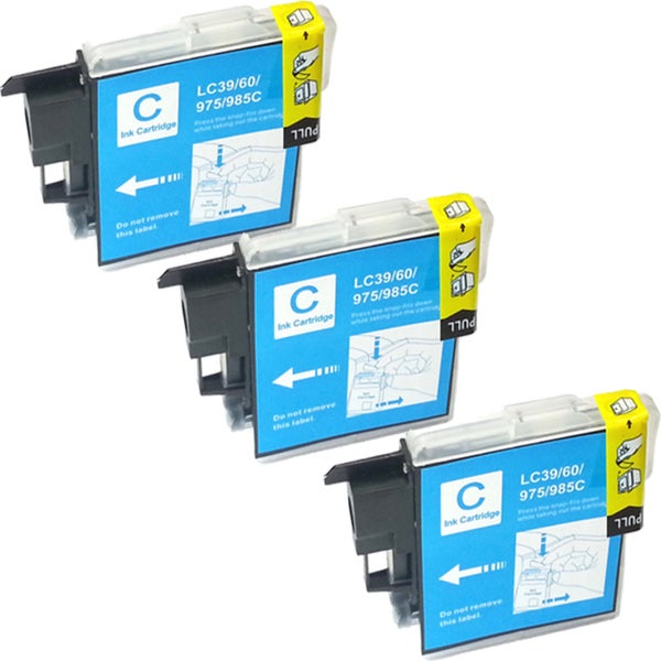 Brother LC-39 Compatible Cyan Ink Cartridges (Pack of 3)