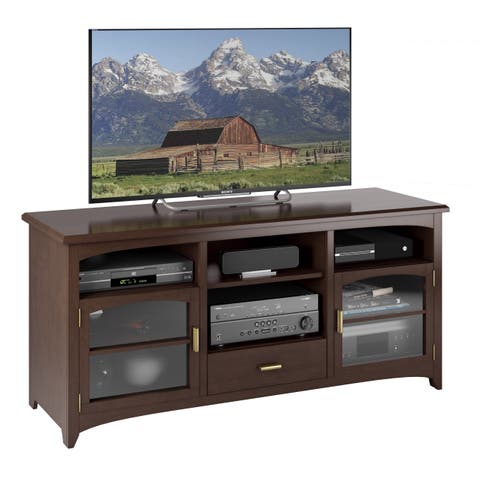 "West Lake Dark Espresso Wood Veneer TV Bench, for TVs up to 70"""